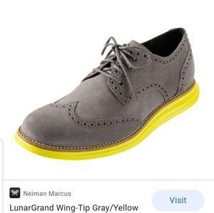 Cole Haan LunarGrand Wing tip shoes sz 9